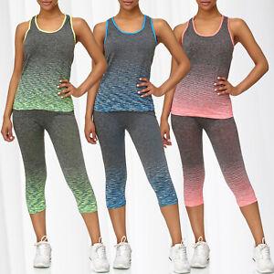 Mesdame-pantalon-de-sport-pour-femmes-top-sportif-leggings-d-039-entrainement-pieces