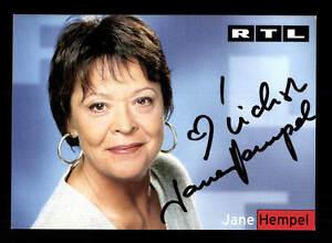 GüNstiger Verkauf Jane Hampel Rtl Autogrammkarte Original Signiert # Bc 86781 Original, Unzertifiziert