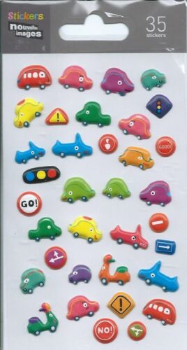 Stickers 3d pour ordinateurs ou pour consoles Voitures planche 14 cm x 7,5 cm