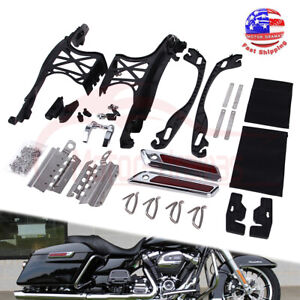 One Touch Saddlebags Hardware Latch Lock Cover Hinge For Harley Touring 2014-18
