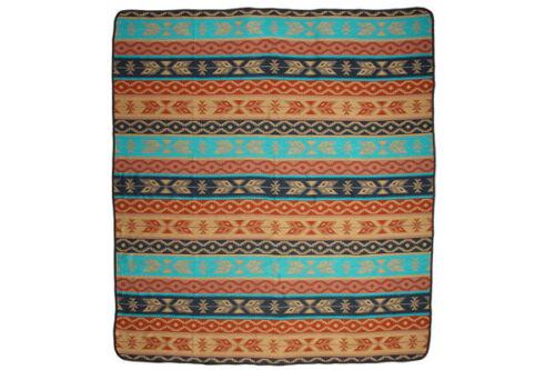 "#3889 Queen Bedspread Wool Blend Reversible Blanket Accent Throw  88/""x 96/"" Peru"