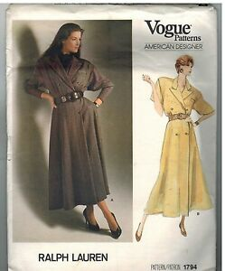 1794-Vintage-Vogue-Sewing-Pattern-Misses-Mock-Wrap-Double-Breasted-Dress-Lauren