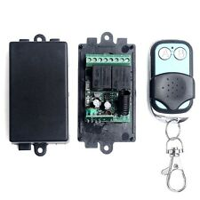 DC 12V 2CH Channel Wireless RF Remote Control Switch Transmitter Receiver 2pcs