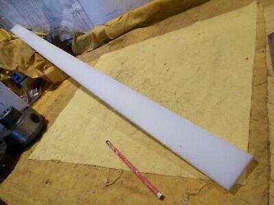 "3 pc LOT of NATURAL UHMW BAR machinable plastic flat sheet stock 1 1//2 x 2/"" x 4/"""