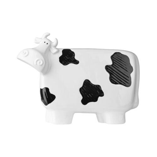 Premier 32x24cm White /& Black Ceramic Cow Figurine Home Shelf Table Window Décor
