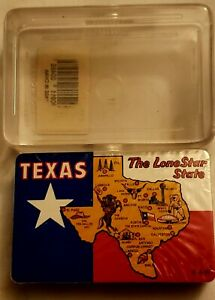 Texas-Lone-Star-State-Miniature-Playing-Cards-Souvenir-Sealed-With-Case