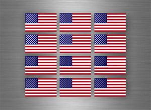 Details Zu 12 X Aufkleber Auto Sticker Amerika Motorrad Usa Fahne Flagge Scrapbooking