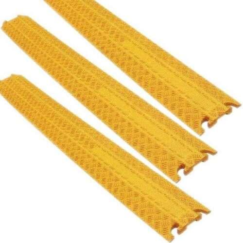 3 St 1 Kanal Kabelbrücke gelb Cable Board Überfahrrampe Kabelkanal Kabel Schutz