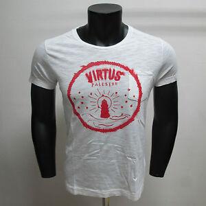 VIRTUS-PALESTRE-camiseta-hombre-m-corta-C1VP7250601U-mod-col-BIANCO-t-XL