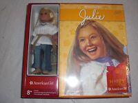 American Girl Julie Gift Set 6 Books Mini Doll Slipcase Board Game Ship Now