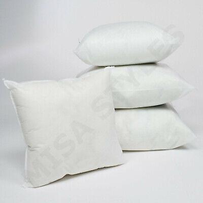Cushion Cover Hollowfibre Insert Non-Allergenic Inner Filler Cotton Covers White