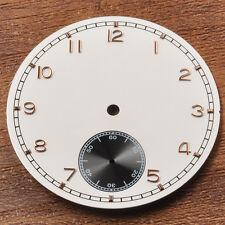 Corgeut  38.9mm  White watch dial fit eta 6498 Sea-gul st36 movement men watch