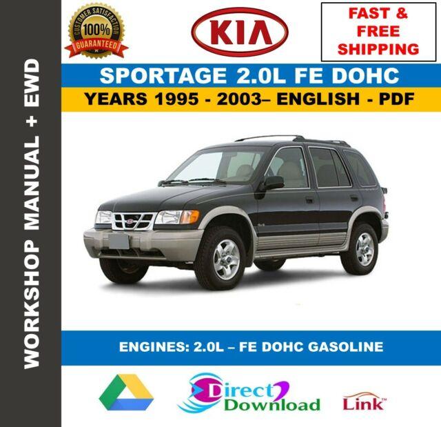 Workshop Manual Kia Sportage 2 0l 1995