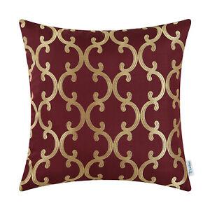 Throw-Pillows-Covers-Cases-Sofa-Quatrefoil-Geometric-Trellis-Chains-18x18-Inches