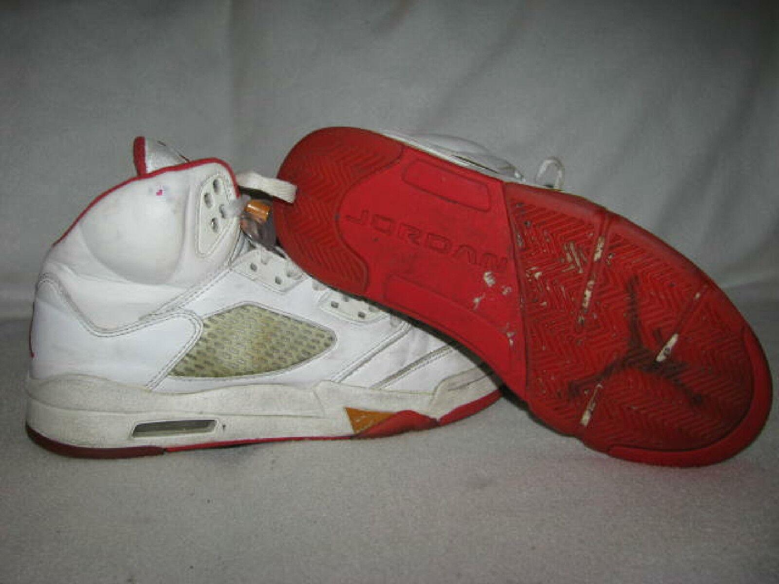 2006 Nike Air JORDAN 5 V Fire Red Womens Sz 7.5 38.5  313551-161