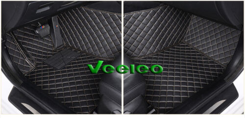 8 Colors Leather Car Floor Mats for Cadillac CT6 2015-2018 Waterproof Non-Slip