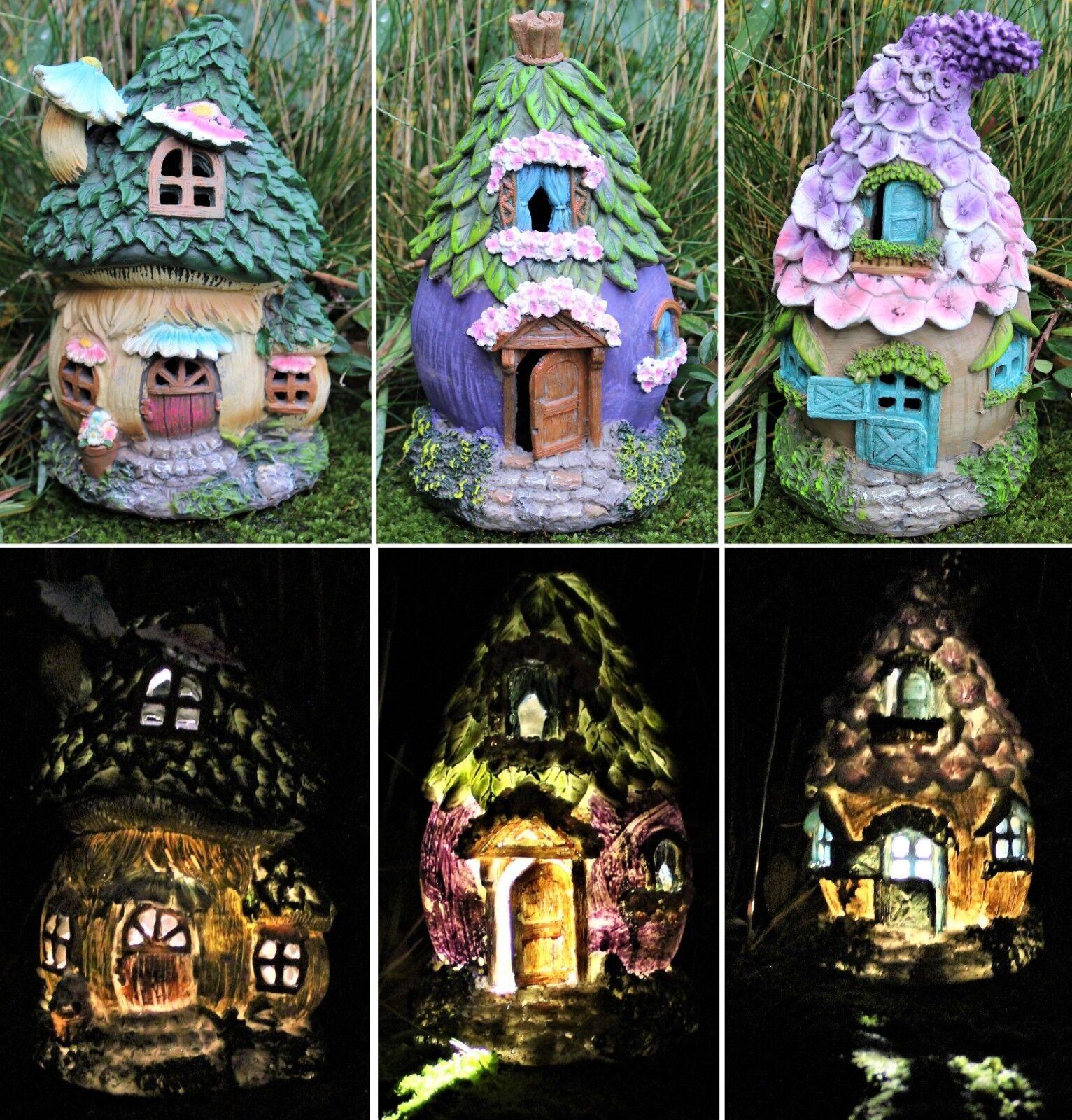 Fairy House Solar Garden Ornament Pixie Lawn Secret Gift £12.95 @ eBay