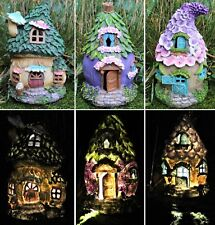Fairy House Solar Garden Ornament Pixie Lawn Secret Gift