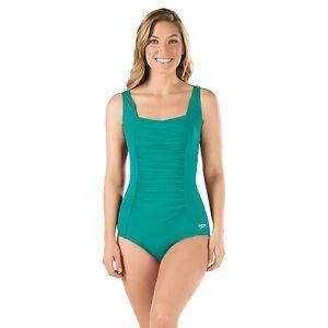 f5d494fb66987 Speedo Women's Shirred Tank Endurance+ One Piece Swimsuit, Tropical ...