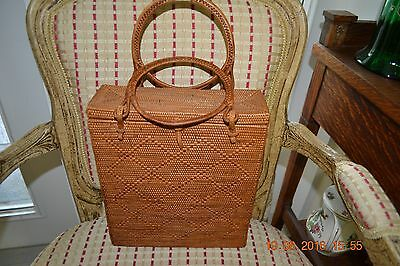 Hand made Large Basket Purse from Hawaii