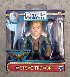 """JADA métal die cast figures DC Comics WONDER WOMEN Steve Trevor 2.5/"""" dégâts boîte"""