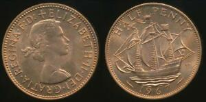 Great-Britain-Kingdom-1967-Halfpenny-1-2d-Elizabeth-II-Choice-Uncirculated