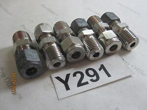 6 QTY Parker CPI Tube Fitting 1/4'' Tube x 1/4'' Male NPT 4-4 ZHBA
