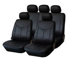 PREMIUM Leder Kunstleder Sitzbezug 2er SET VORN SCHWARZ #8 für VW Seat Skoda
