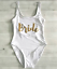 Ladies-BRIDE-SQUAD-Swimsuit-Bridesmaid-Swimming-Bathing-Costume-Hen-Party-Bridal miniatura 17