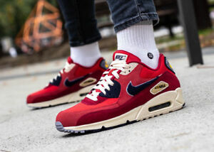 7e9848265e Nike Air Max 90 Premium SE 858954-600 University Red Men's Running ...