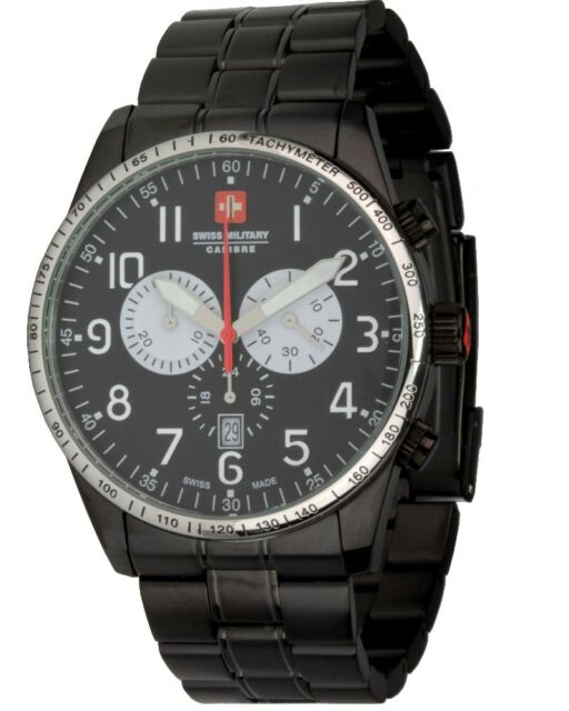 Swiss Military Calibre Red Star 06-5R4 Herrenuhr Ø 45mm Quarz-Chronograph
