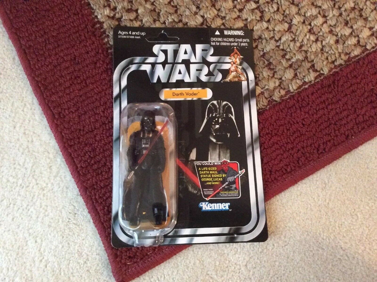 Kenner darth vader mit abnehmbaren cape lange säbel action - figur
