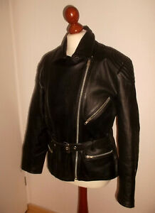 Details zu vintage LOUIS Motorradjacke Lederjacke biker vtg motorcycle oldschool jacket 42