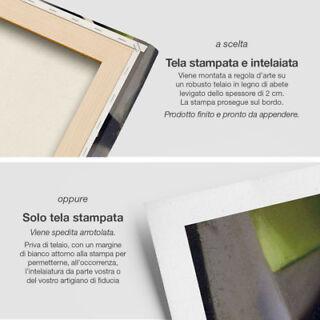 cm 166x90 Stampa su Tela Arredamento Arredo Arte Casa Mappa Quadro Moderno 5 pz