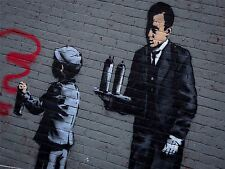 ART PRINT POSTER PHOTO GRAFFITI STREET BANKSY SPRAY PAINTING BOY BUTLER NOFL0381