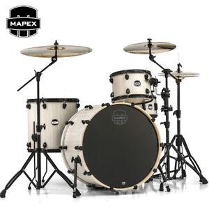 NEW-Mapex-MARS-SERIES-Rock-24-Full-SIze-Drum-Set-Shell-Pack-Bonewood-MA446SBAW