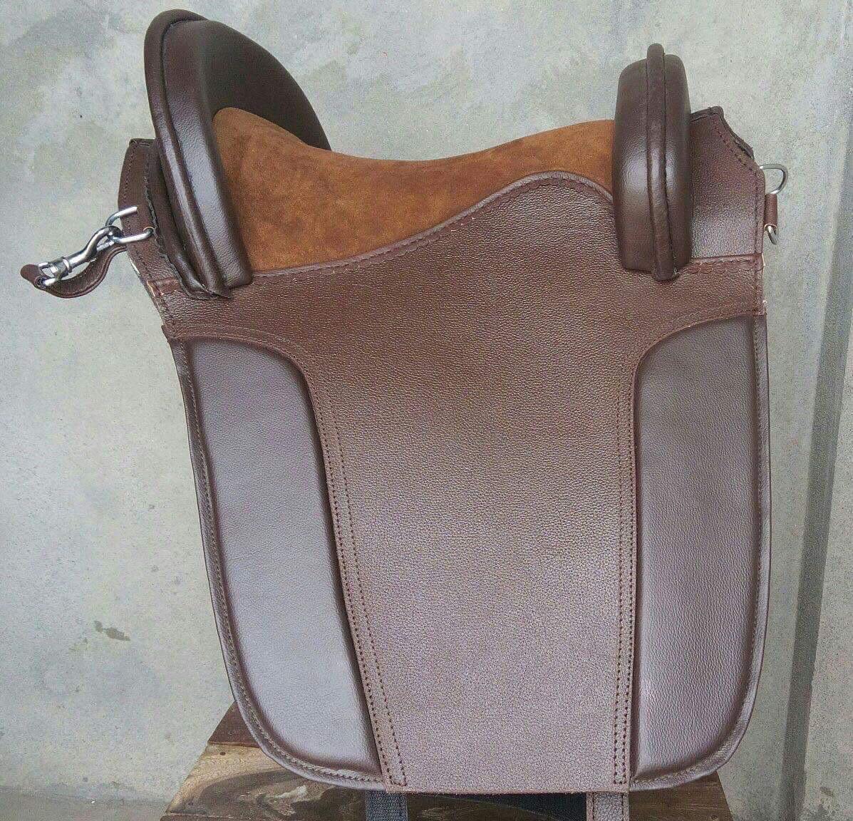 Estilo Barroco Hermoso Antiguo Diseño Marrón Genuino Rexine de montar