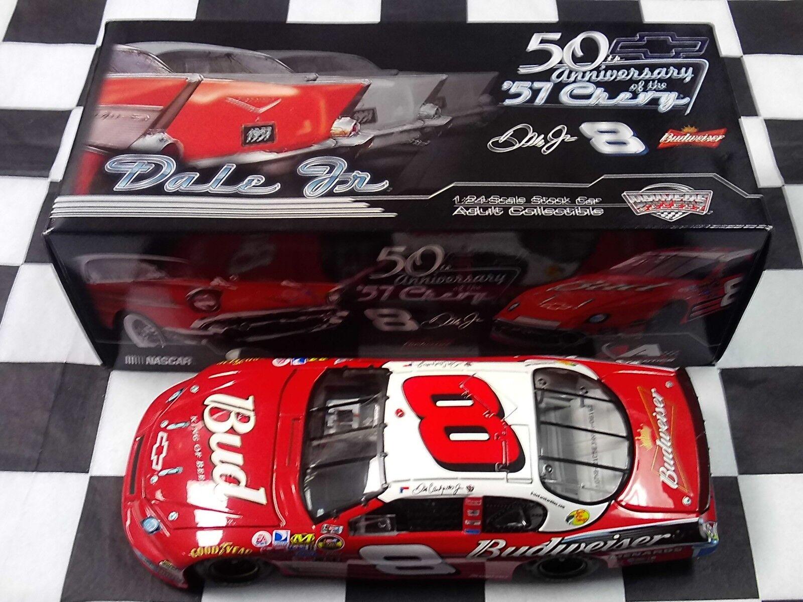 ordina adesso Dale Earnhardt Jr  8 8 8 Budweiser 57 Chevy 50th Anniversary 2007 1 24 azione NIB  consegna gratuita e veloce disponibile