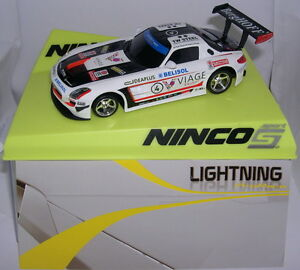 Ninco 50578 Slot Car Mercedes Sls Gt3 #4 Viage Lightning Mb Officiel 2019