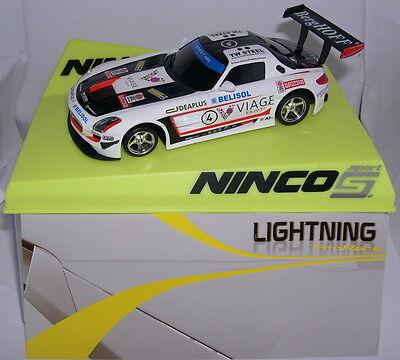 Ninco 50578 Slot Car Mercedes Sls Gt3 #4 Viage Lightning Mb Drip-Dry Kinderrennbahnen