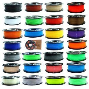 3D-1kg-Drucker-Filament-Rolle-PLA-ABS-1-75mm-schwarz-weiss-transparent-blau-gruen