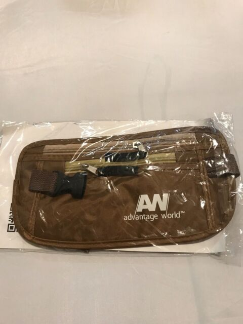 Advantage World Travel Pouch Hidden Money Belt with RFID Paracord Strength for