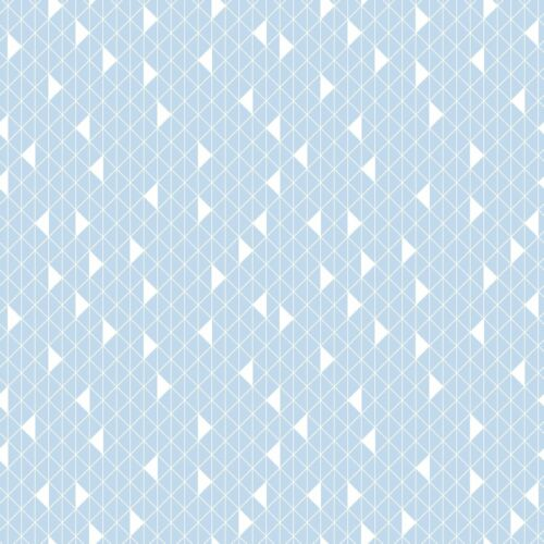 SPRINGS CREATIVES PRODUCTS JACK GRID ON A BABY BLUE COTTON FABRIC BTY