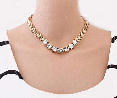 Hot Fashion Jewelry Crystal Chunky Statement Chain Pendant Necklace Bib Choker