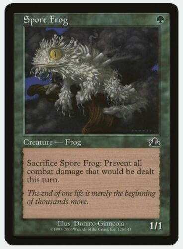 FREE US SHIPPING! Prophecy Moderate Play MTG X1: Spore Frog C