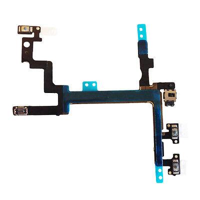 iPhone 5 Power Flex Volume Mute Button Kabel Stummschalter Laut Leiser An Aus 5G