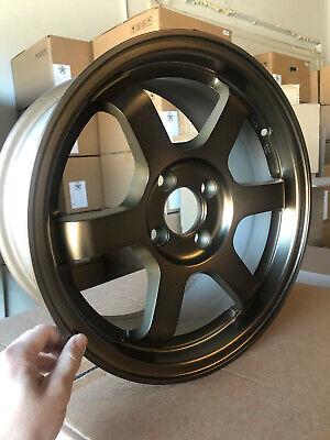 15x7 Rota GRID 4x100 38 Flat Black Wheel 1