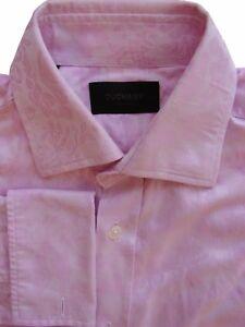DUCHAMP-LONDON-Shirt-Mens-15-S-Pink-Flowers
