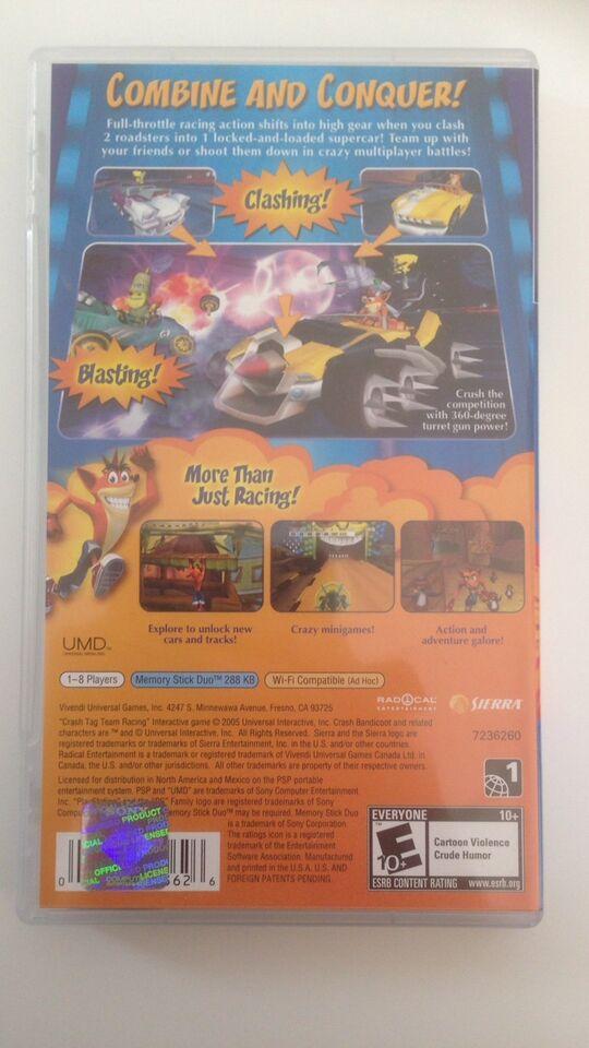 Crash tag team racing, PSP