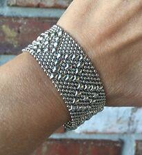 BRAND NEW AUTHENTIC Liquid Metal Sergio Gutierrez Mesh Snap Cuff Bracelet TB9